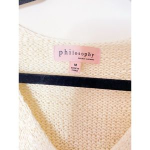 philosophy sweater.